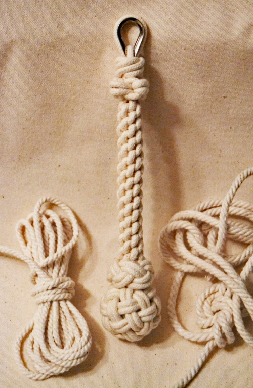 7-Inch Hand-tied Bell Rope or Lanyard