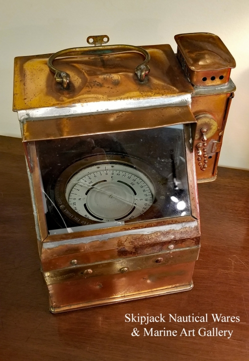 A WWII US Navy Boat Compass Binnacle