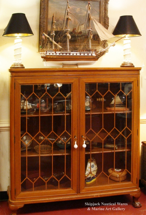 Classic Mahogany Chippendale Style Two Door Bookcase