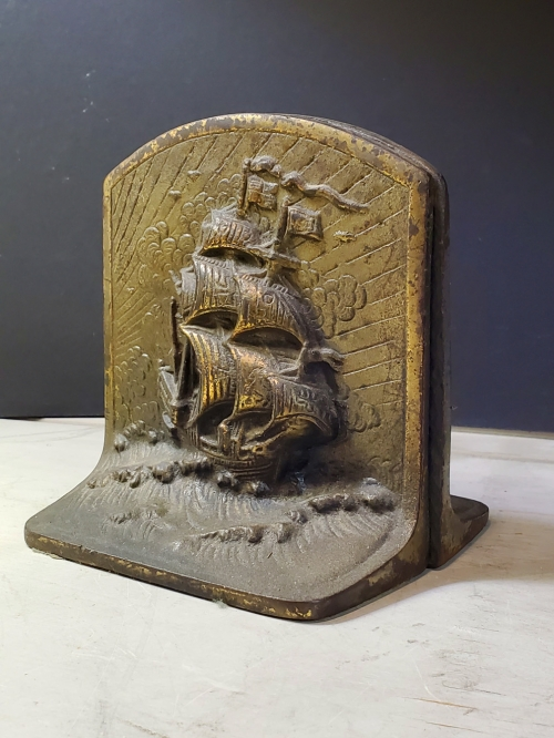 Antique Bookends- Spanish Galleons