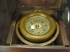 mahogany, wood, binnacle, wilcox crittenden, brass compass, slant front, boxed