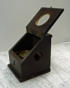 mahogany, wood, binnacle, wilcox crittenden, compass, slant front, boxed