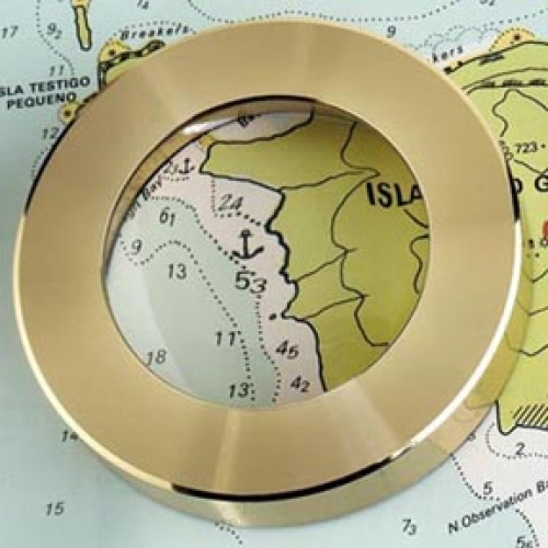 Nautical Magnifier Chart Weight (engravable)(new)