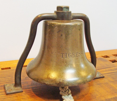 "Bronze Ship's Helm's Bell From the Ship ""TIGRESS"""