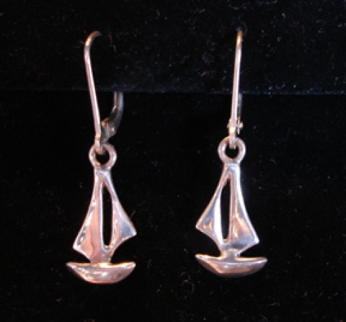 """J Boat"" sterling silver sailboat earrings from the Barbara Vincent Collection"
