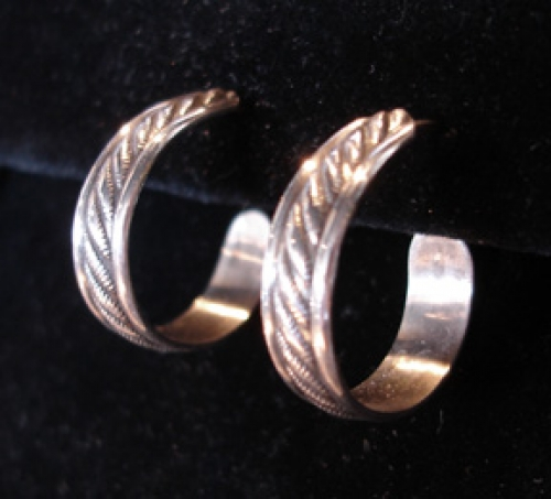 """Hope"" sterling silver hoop earrings from the Barbara Vincent Collection"