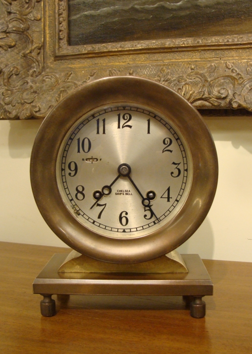 Vintage Chelsea Ship's Bell Clock