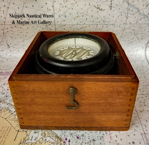 Boxed Liquid-filled Compass by Wilcox & Crittenden
