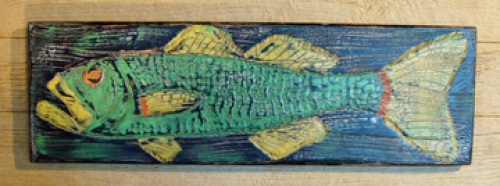 Folky Fish carved folk art by Joe Marinelli