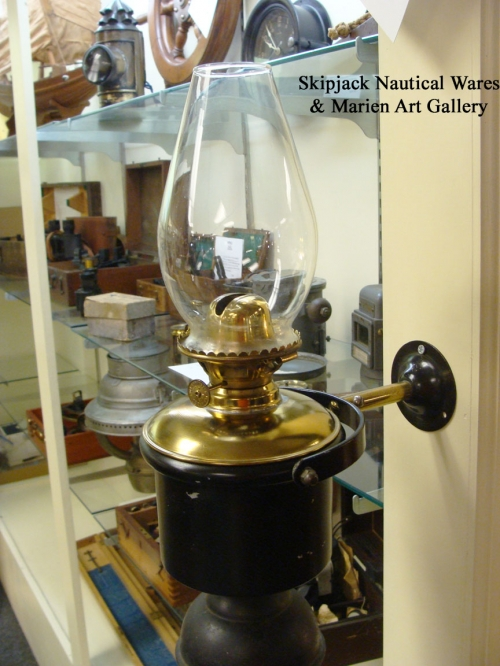 Early 20th Century Gimbaled Cabin Lantern Manufactured by P & A