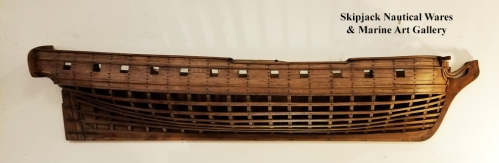 Plank on Frame Half Hull Model of Ship of War