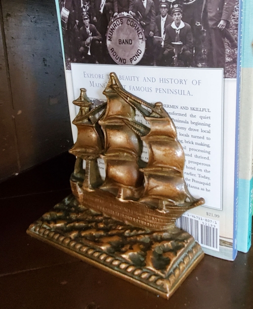 'HMS VICTORY' Sailing Ship Brass Bookends