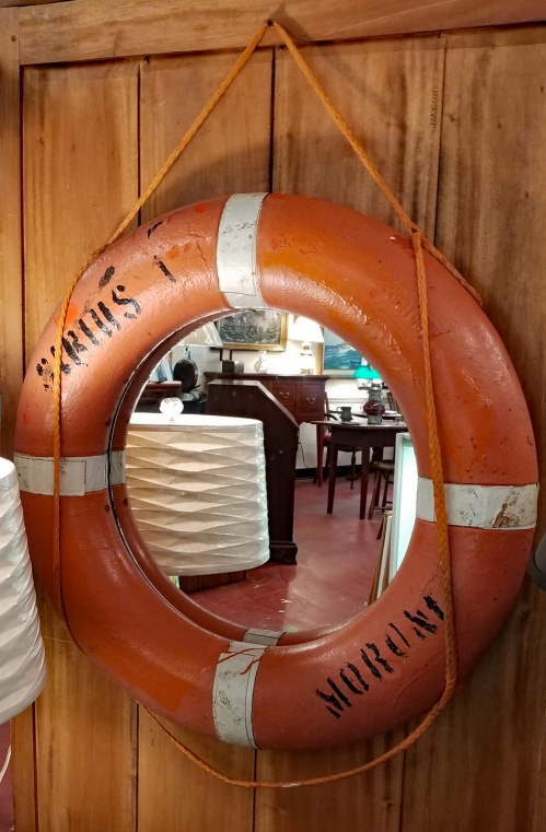 Life Preserver Nautical Mirror