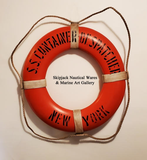 "Life Ring from the Container Ship ""S.S.CONTAINER DESPATCHER, NEW YORK"""