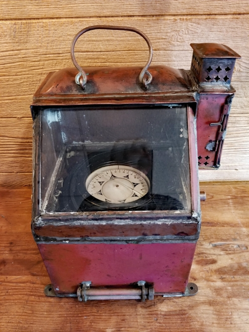 A WWII Lifeboat Compass Binnacle