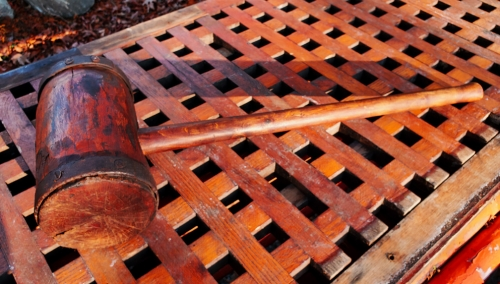 Large 19th Century Wood Mallet- Maritime Tools & Salvage