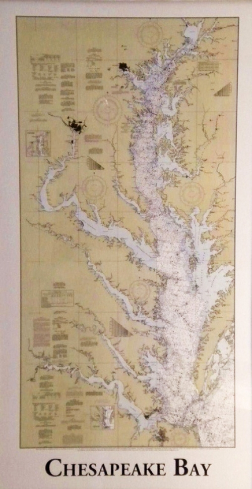Composite print of the Chesapeake Bay nautical charts (loose)