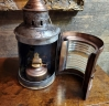 Early 20th Century Galvanized Metal and Brass Marine Navigational Light