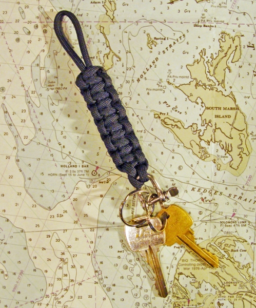 Mariner Nautical Rope Key Fob with Rings