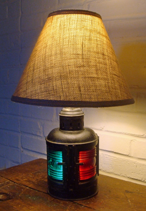 Old Perko Port Starboard Nautical Table Lamp