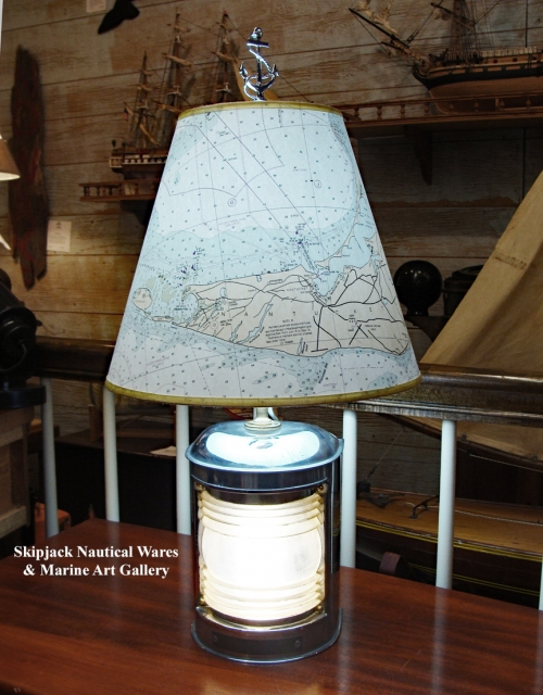 Perko Nickel-plated Stern Light Nautical Table Lamp