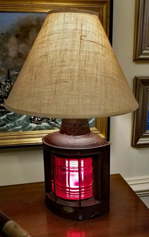 Early 20th Century TRIPLEX Port Lantern Table Lamp