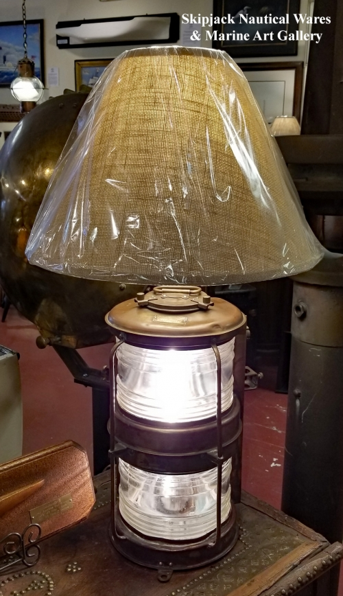 Antique Wood Table Lamp