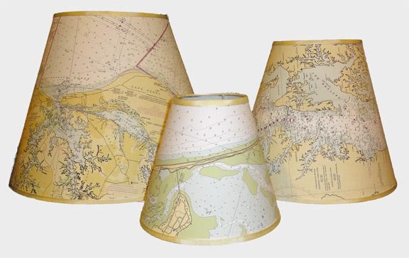Large 16 Nautical Chart Lamp Shade