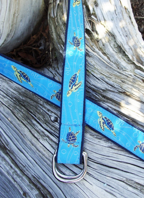 Sea Turtle Ribbon Nautical D-ring Belt