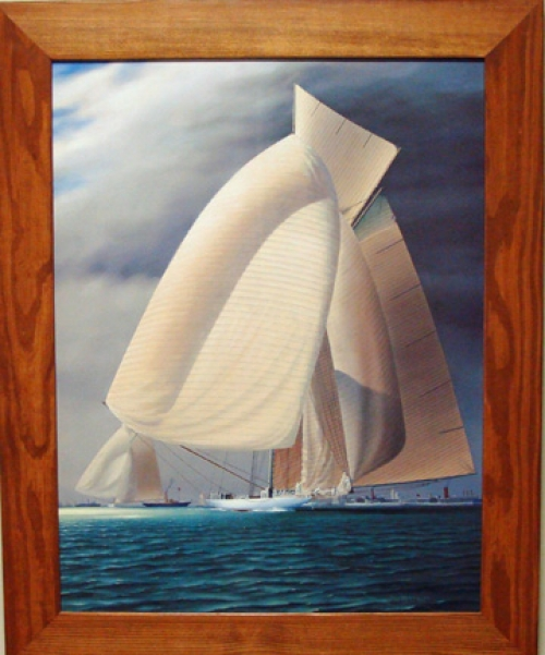 """New Breeze"" by New Zealand artist Jim Bolland, giclee on canvas"