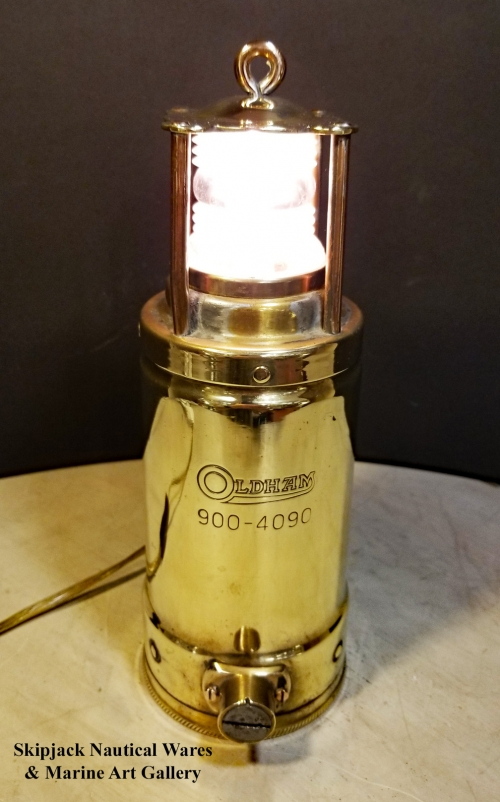 Brass Oldham Royal Navy Engine Room Light
