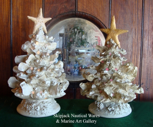 Lighted Oyster Christmas Tree by ceramic artist Kevin Collins