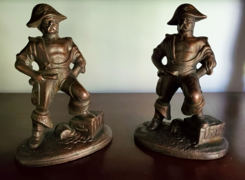 Antique Cast Iron Pirate Bookends