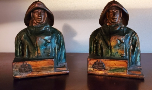 Gloucester Fisherman Bookends- Pompeian Bronze Works