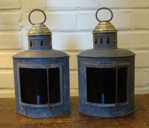 Pair of Late 19th Century Port and Starboard Running Lights