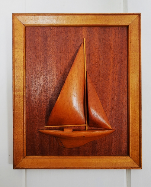 Sloop Sailboat Half Hull Marine Art