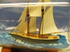 Schooner Virginia Model In-a-Bottle by Marine Artist Jim Goodwin, port view