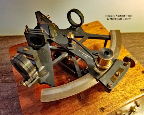 Miniature Hutchinson Sextant Made for the National Geographic Society