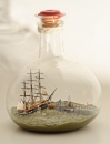 The Ramming and Sinking of the USS Cumberland by the CSS Virginia Ship in Bottle *