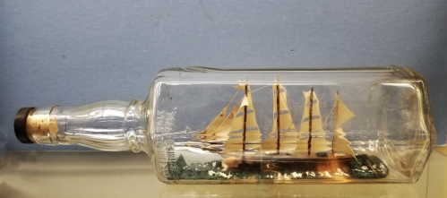 Full-Rigged Tall Ship in a Bottle