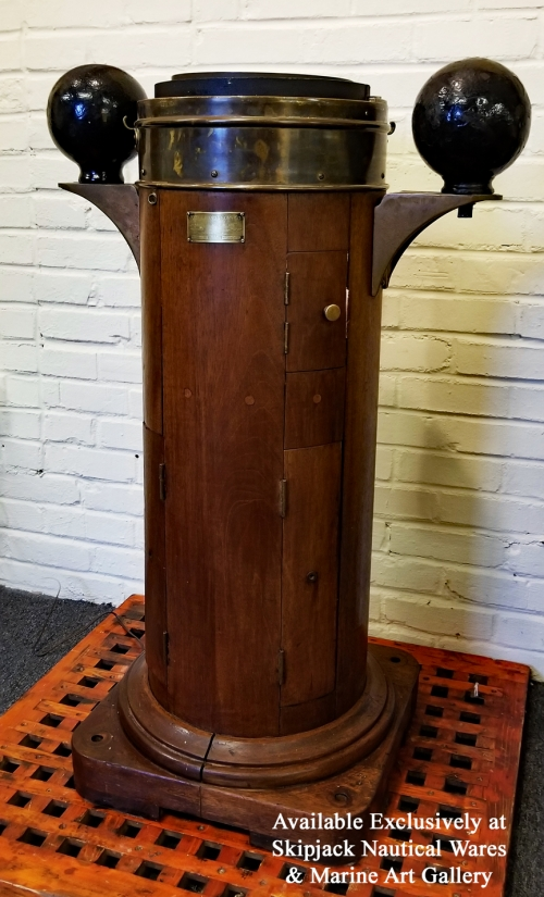 John E. Hand & Sons Ships Binnacle With Kelvin & Wilfred O White Compass