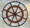 Large Antique American Ship's Helms Wheel