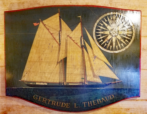 "Painting on Board of the Fishing and Racing Schooner""Gertrude L. Thebaud"" by Jack Woodson"