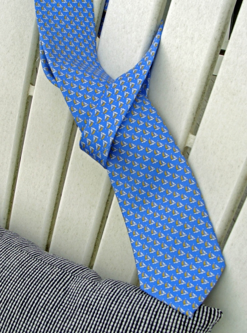 Sails and Sailboats Tie -- Men's Nautical Necktie (silk)