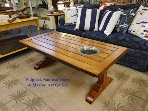 Authentic Ship's Door Nautical Coffee Table