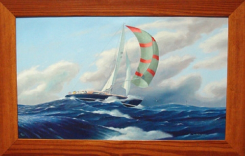 """Wind Whisperer"" by New Zealand artist Jim Bolland, giclee on canvas"